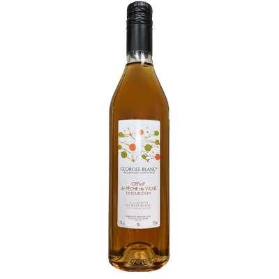 Crème de pêche de vigne de Bourgogne