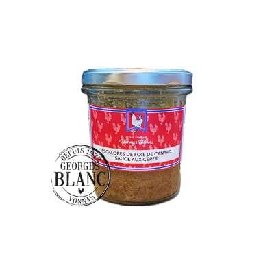 Escalopes de Foie de Canard Sauce aux Cèpes - Boutique Gourmande Georges Blanc  - Recette Traditionnelle - Vonnas Lyon