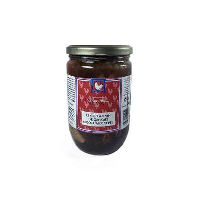 Le coq au vin de Cahors mijoté aux cêpes