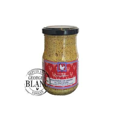 Moutarde en grains à l'ancienne Fabriquée à la meule de pierre