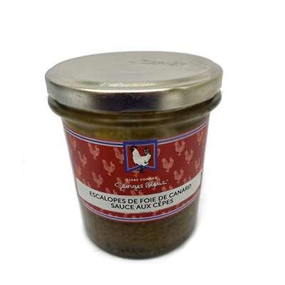 Escalopes de Foie de Canard Sauce aux Cèpes