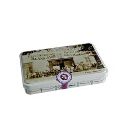"""Boîte métal sérigraphiée collection """"Auberge 1900"""" rectangulaire - Georges Blanc – Boutique gourmande Boutique en ligne Vonnas Chef étoilé"""