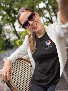 Tee-Shirt Coton Bio Noir Femme