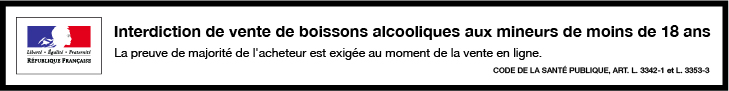 Bandeau pour la vente de boissons alcooliques